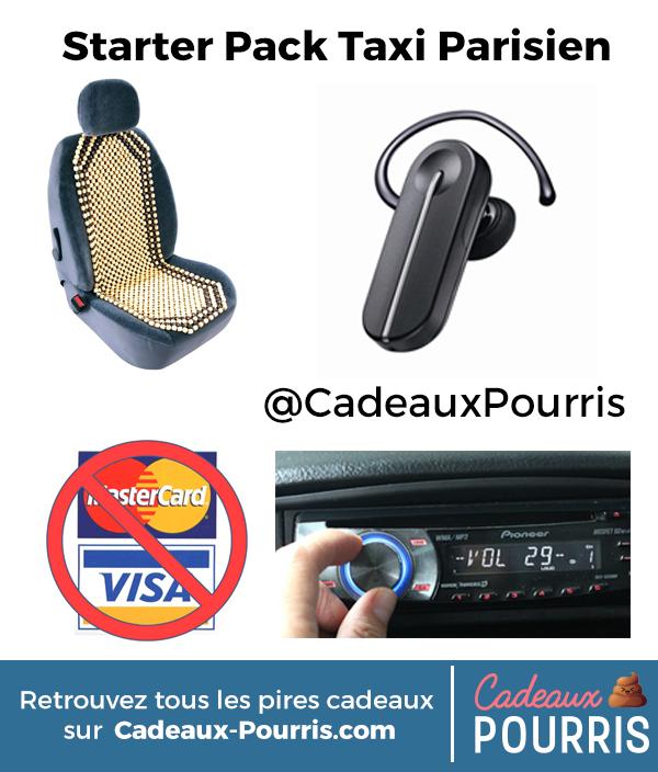 starter pack taxi parisien