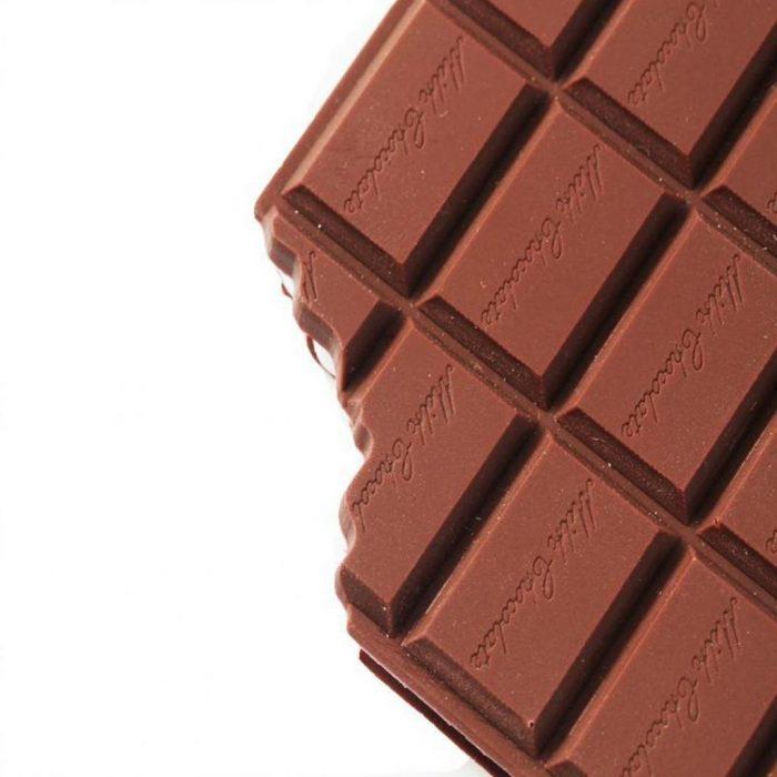 Cahier en forme de barre chocolatée