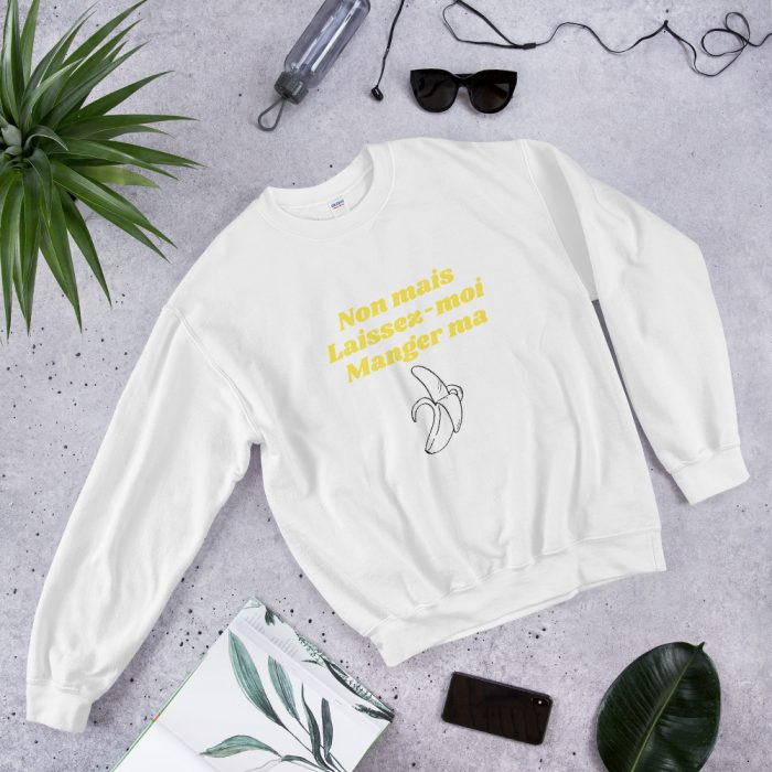 Sweatshirt blanc avec banane