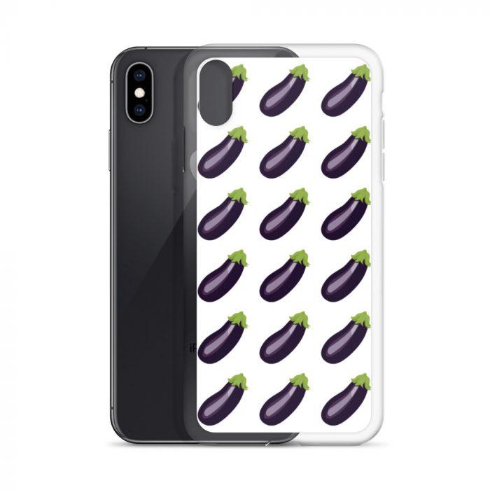 Coque iphone Emoji Aubergine
